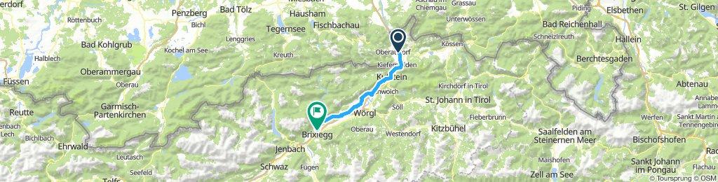 Einfache Fahrt in Rattenberg