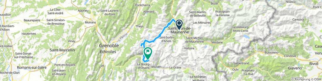 saint-jean-de-Maurienne Huez return