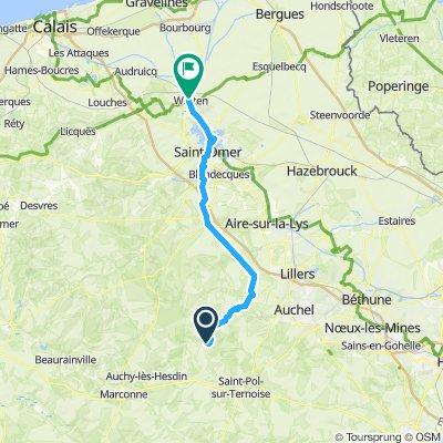 30. Alvin to Watten 57km.