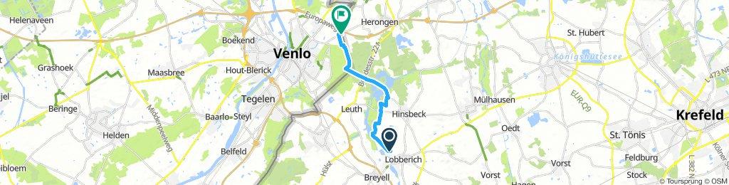 Route im Schneckentempo in Venlo