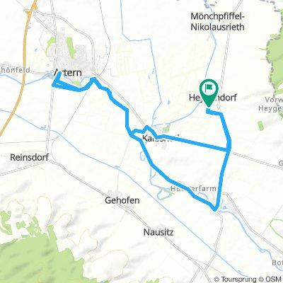 Langsame Fahrt in Heygendorf