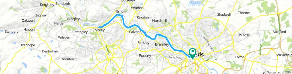 Leeds/Liverpool canal towpath: Leeds to Shipley and back