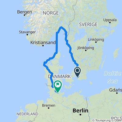 Malmö über Moss nach Dänemark