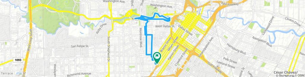 Buffalo Bayou Route