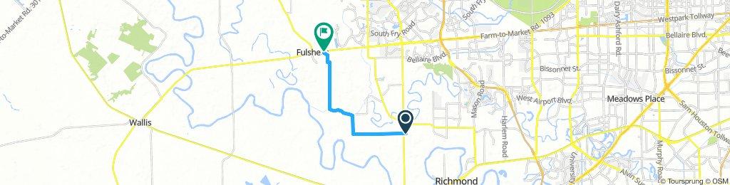 Richmond-Fulshear back road