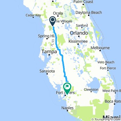 inverness, fl to ft. myers, fl
