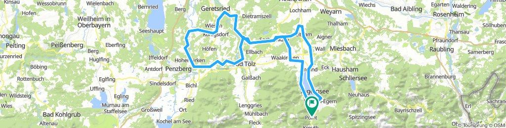 Geretsried - Mürnsee - Bad Tölz - Warngau