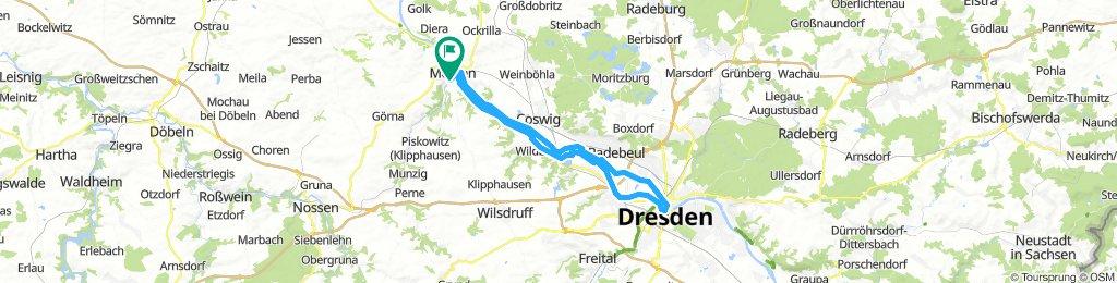 Meißen-Runde 1: Dresden durchs Elbtel