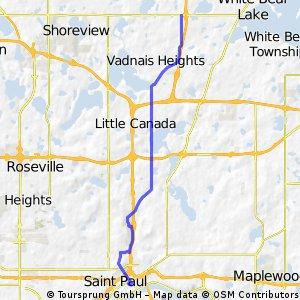 B2B00395 55127>55101 viaCenterville/Edgerton/Gateway/L'Orient/Jackson
