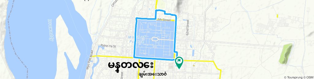 Snail-like route in Mandalay