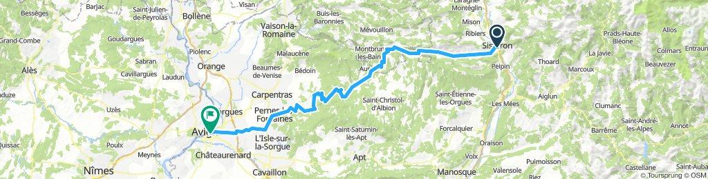 Sisteron > Avignon