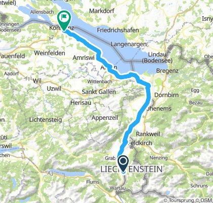 Vaduz to Konstanz