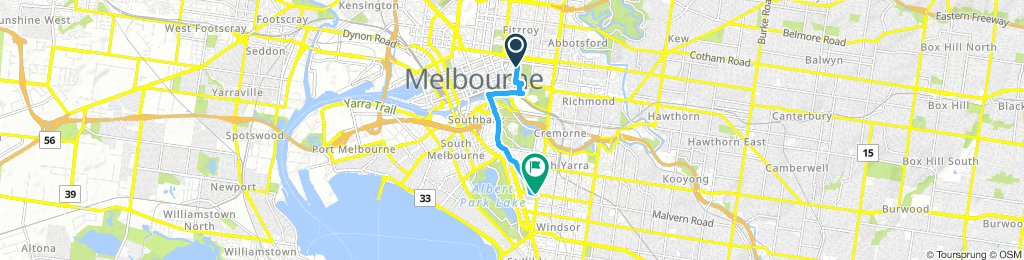 Moderate route in Melbourne