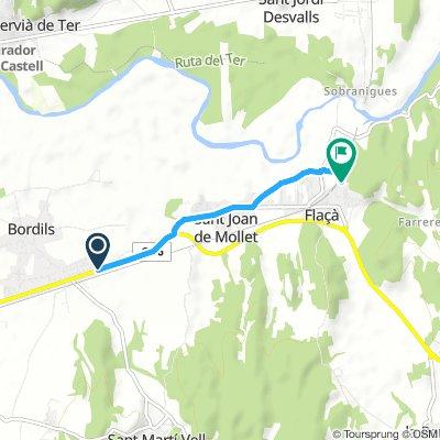 Snail-like route in Flaçà