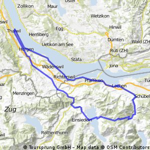Thalwil - Sihlsee - Sattelegg - Lachen - Thalwil CLONED FROM ROUTE 184340
