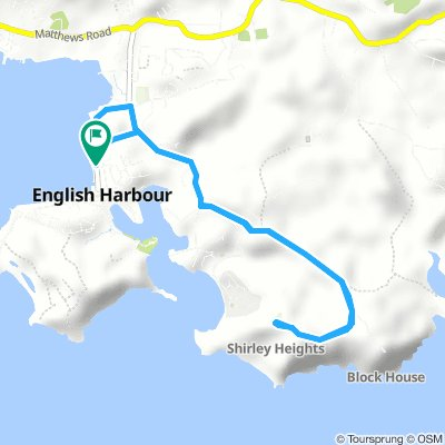 Cycling routes and bike maps in and around Antigua and ...