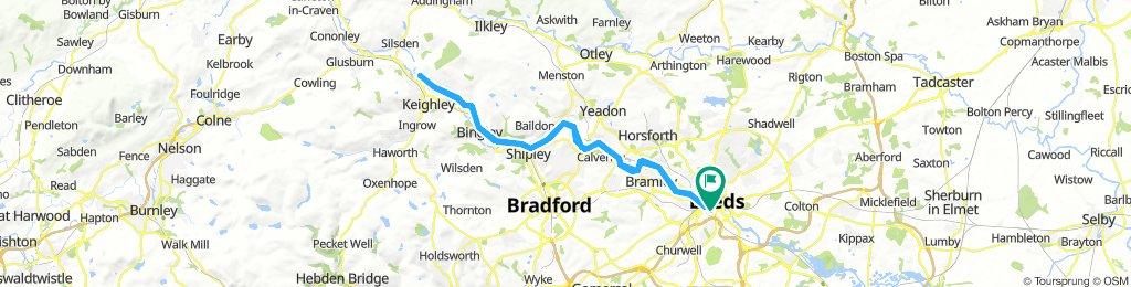 Leeds to Riddlesden 40 miles round trip