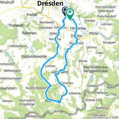 Dresden - Altenberg Straßenvariante II