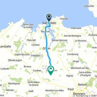Saint Malo to Landujan