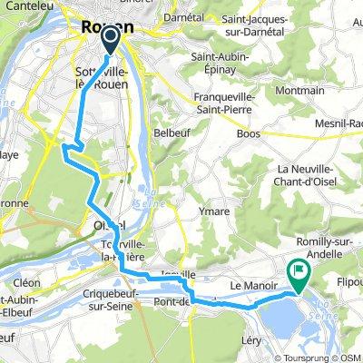 Rouen - Poses HaPaR Cyclobiblio