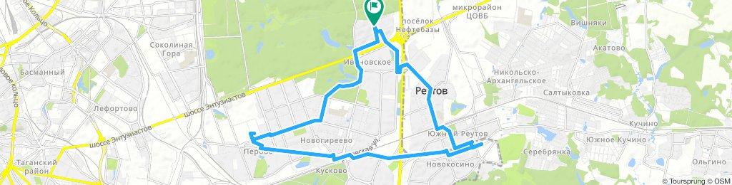 Весенние сухие велоездки Новокосино - Перово 01 04 2019