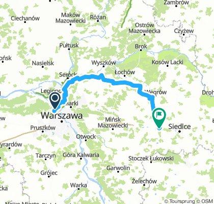 Liw przez Zegrze, Niegów, Korytnicę do Kotunia 140km