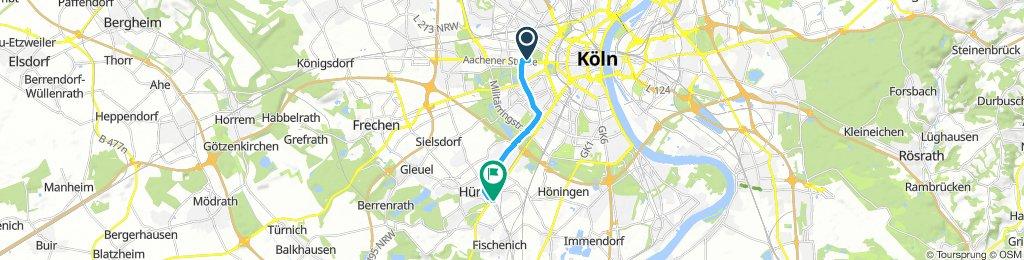Moderate route in Hürth