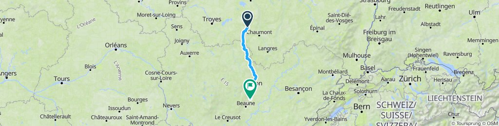 Friday 24 May-Day 5 : Colombey-les-deux-Eglises to Nuits-St-Georges