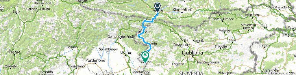 Villach - Gorizia via Predil
