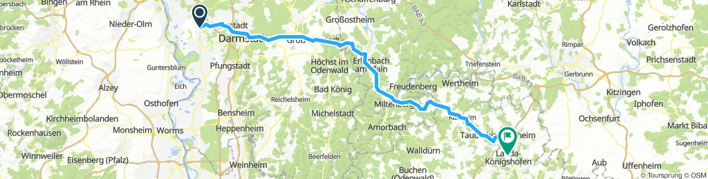 Radtour nach Lauda, EBike-Mott