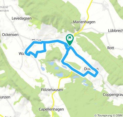 Route im Schneckentempo in Weenzen