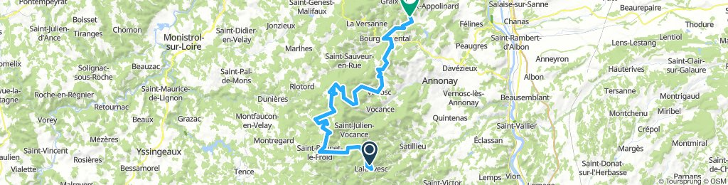 Lalouvesc - Saint-Julien-Molin-Moulette