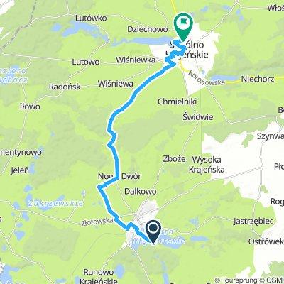 Więcbork - Sępólno Krajeńskie szlak czerwony rowerowy