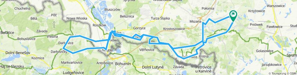 Silherovice - Hulcin - Darkovice (Pas umocnień CZECHY)