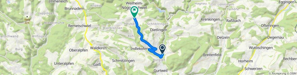 Nöggenschwieler Kappelmuur (Gutenburger Brücke - Abzw. vor Nögg.)