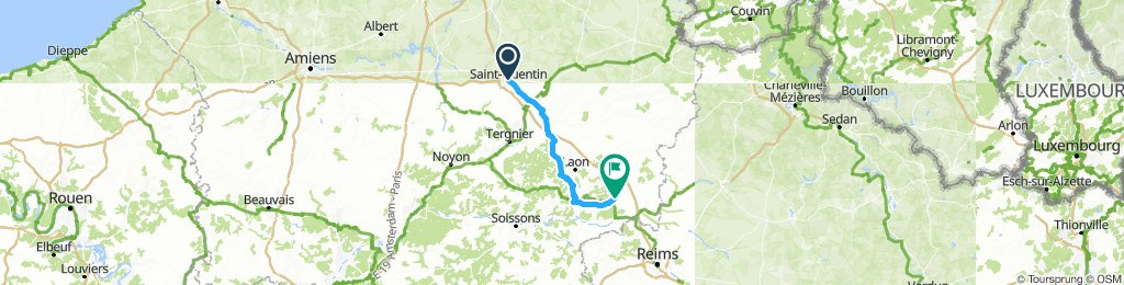 St Quentin to Corbeny