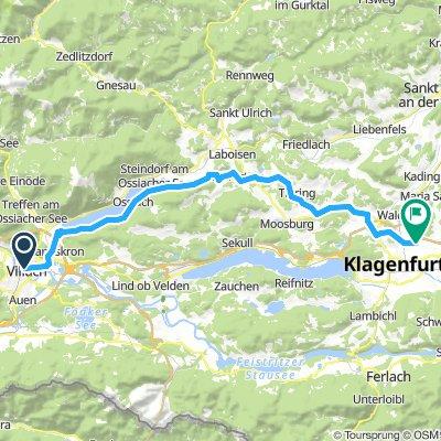 Villach-Ossiach-Klagenf.55Km