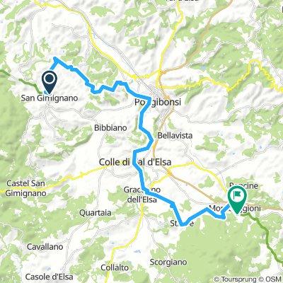 San Gimignano - Monteriggioni