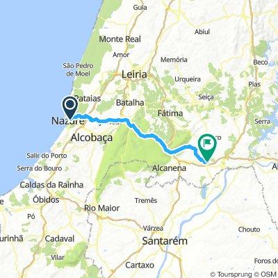 13 may. Nazare-Alcobaca-Mira de aire caves - camping
