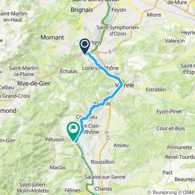 Via Rhôna: 1er Etappe Giros à Chavanay
