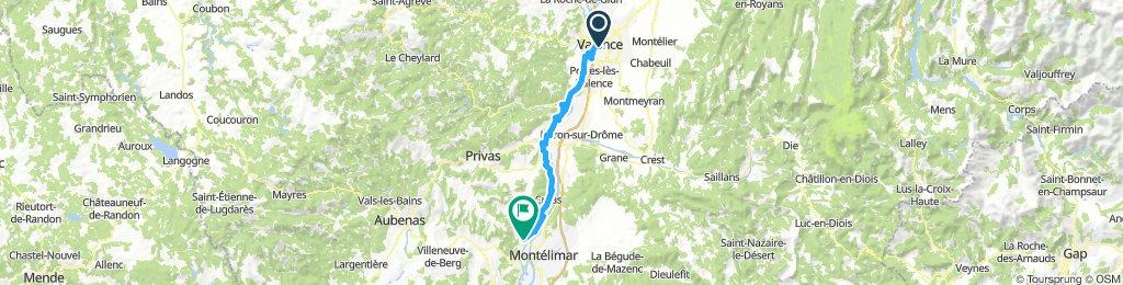 Via Rhôna: 4ième ETappe: Valence à Rochemaure