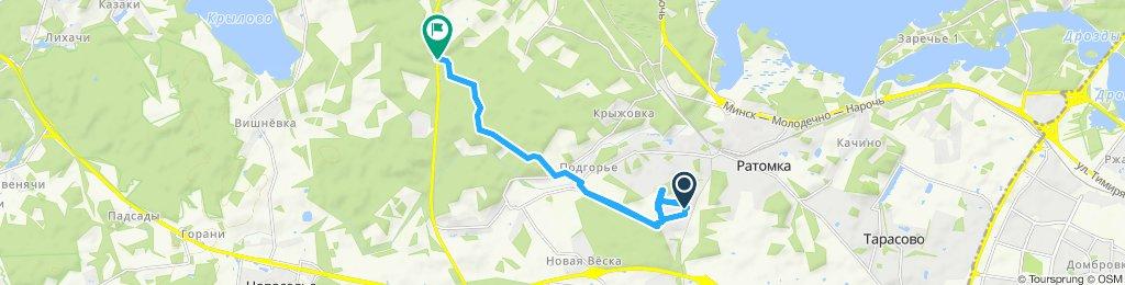 Snail-like route in Ratomka