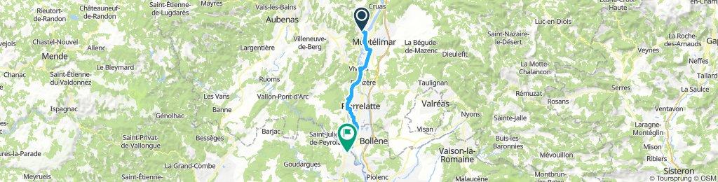 Via Rhòna: 5ième etappe: Rogemaure à Pont St.Esprit