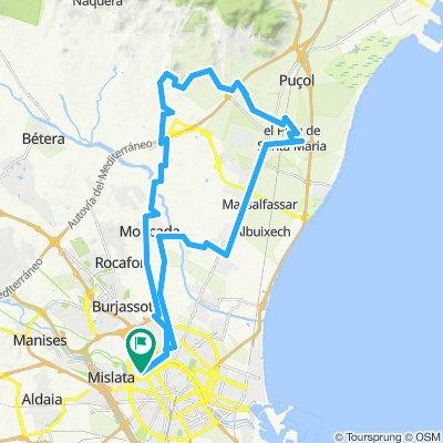 Valencia - Moncada - Montañeta dels Sants 10-04-2019