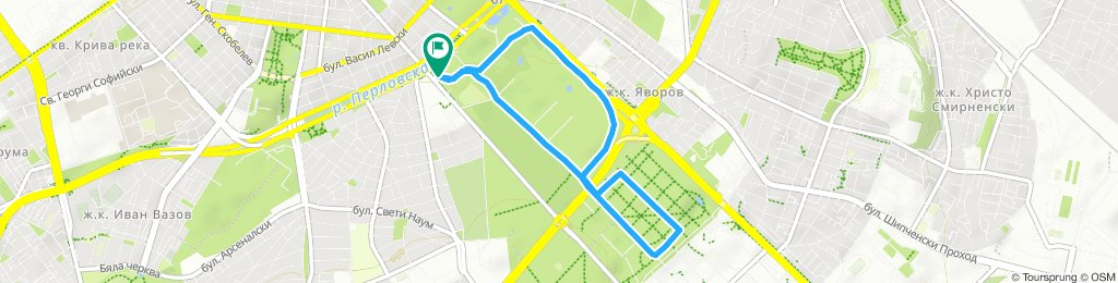 5 km run Borisova gradina