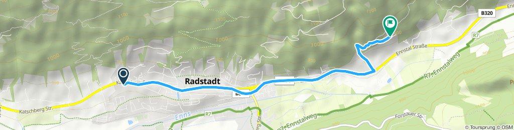 Langsame Fahrt in Radstadt