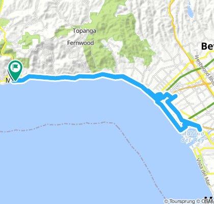Malibu beach to Santa Monica