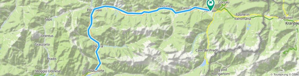 Alpe Adria Radweg Tarvis - Chiusaforte und retour