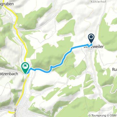 Würzweiler Alzens Radweg