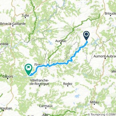 Deel 5 Tagenac - Cajarc 162,3km